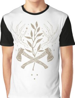 Vintage Nature Axe Geometric (On Dark) Graphic T-Shirt