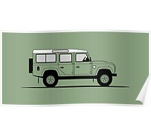 A Graphical Interpretation of the Defender 110 Station Wagon Heritage Edition Poster