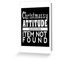 Christmassy Not Found (white) Greeting Card