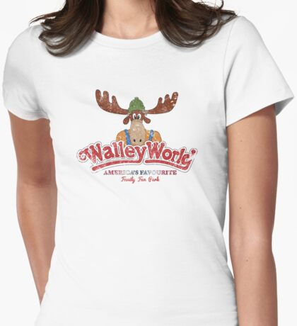 Walley World - America's Favourite Logo Distressed Womens Fitted T-Shirt