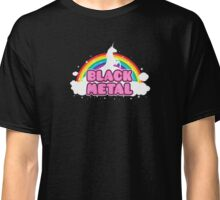 Black Metal Unicorn Rainbow Classic T-Shirt