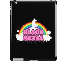 Black Metal Unicorn Rainbow iPad Case/Skin