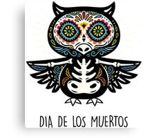 Owl  Day of the Dead Canvas Print