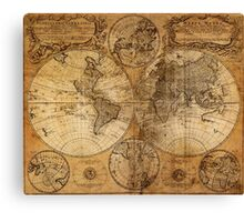 World Map 1736 Canvas Print