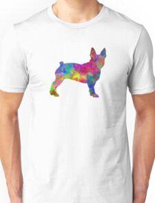 Boston Terrier 01 in watercolor Unisex T-Shirt
