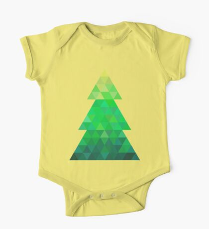 Triangle Christmas Tree One Piece - Short Sleeve