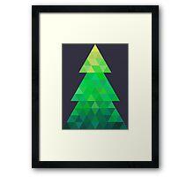 Triangle Christmas Tree Framed Print