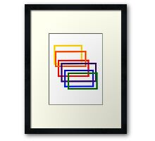 Kaleidoscope Rope Framed Print