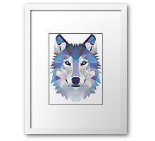 Polygonal Dire Wolf Framed Print