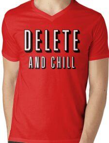 Delete & Chill Mens V-Neck T-Shirt