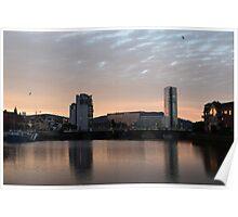Belfast sunset Poster