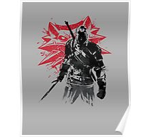 The Witcher Sumi-e Poster
