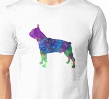 Boston Terrier 02 in watercolor Unisex T-Shirt