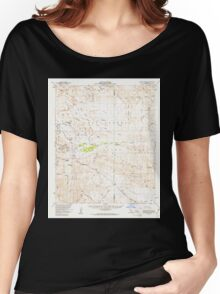 USGS TOPO Map California CA Carrizo Mountain 297041 1959 62500 geo Women's Relaxed Fit T-Shirt