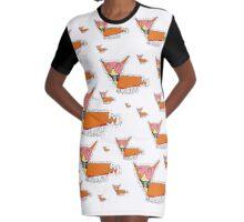 Lots of Foxes Graphic T-Shirt Dress
