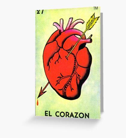 Loteria: El Corazon Greeting Card