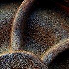Rail Car Wheel Detail by Larry Costales