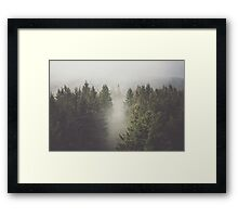 My misty way Framed Print