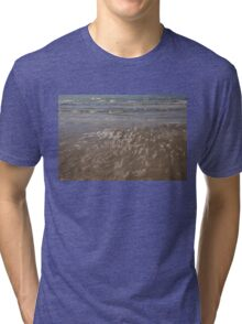 Painted by Sun and Waves - a Natural Abstract on the Beach Tri-blend T-Shirt