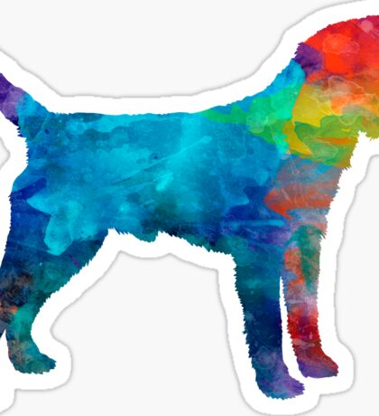 Border Terrier in watercolor Sticker
