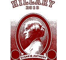 Susan B. Anthony casts her vote for...Hillary! by Kricket-Kountry