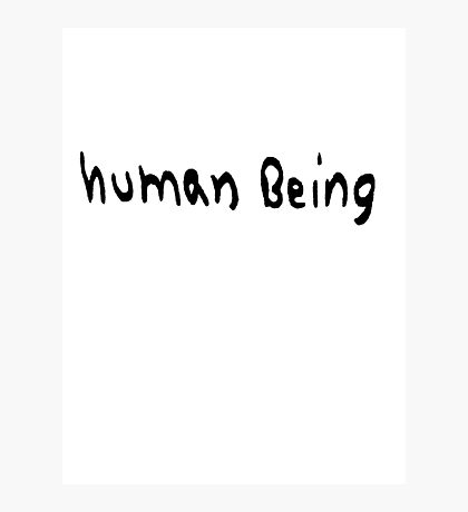Human Being Photographic Print