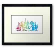 °FINAL FANTASY° Final Fantasy Tactics Rainbow Logo Framed Print