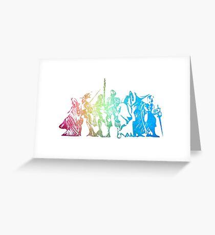 °FINAL FANTASY° Final Fantasy Tactics Rainbow Logo Greeting Card