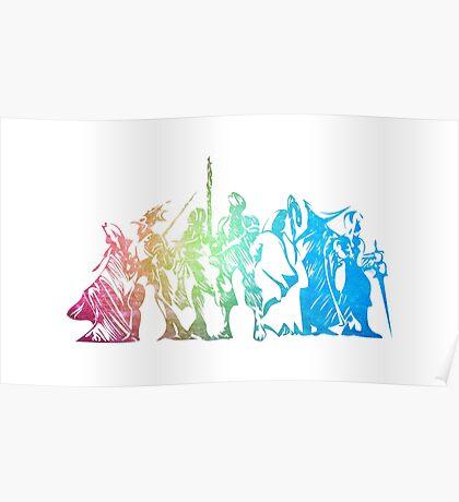 °FINAL FANTASY° Final Fantasy Tactics Rainbow Logo Poster