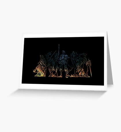 °FINAL FANTASY° Final Fantasy Tactics Neon Logo Greeting Card