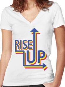 Rise Up Women's Fitted V-Neck T-Shirt