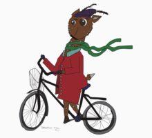 Diego the Deer Rides his Bicycle Baby Tee