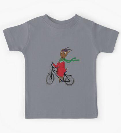 Diego the Deer Rides his Bicycle Kids Tee