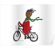 Diego the Deer Rides his Bicycle Poster