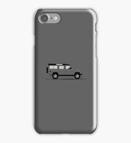 A Graphical Interpretation of the Defender 110 Station Wagon iPhone Case/Skin