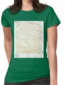 USGS TOPO Map California CA Alamo Mountain 287858 1995 24000 geo Womens Fitted T-Shirt