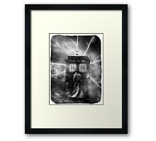 Ligtning Into The Public Police Call Box Framed Print