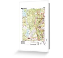 USGS TOPO Map California CA Boca 100569 2000 24000 geo Greeting Card