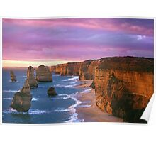 12 Apostles at Sunset Poster