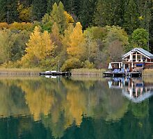 Weissensee in fall colors by Arie Koene
