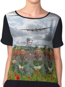 A Tribute To The Dambusters 617 Squadron Crews 1943 Chiffon Top