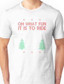 Cycling Christmas Unisex T-Shirt