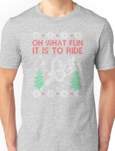 Cycling Christmas Unisex T-Shirt