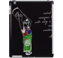 A Paper Shield and a Wooden Sword (Black) iPad Case/Skin