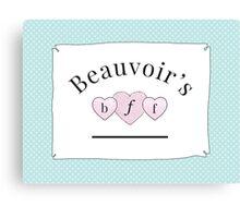 Beauvoir's B.F.F. Canvas Print