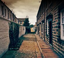 A Back Street in Skipton, Yorkshire, England by Elaine Teague