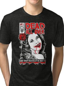 Dead All Over Vampire Comic Book Cover Tri-blend T-Shirt