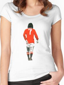 Gorgeous George Best Tribute Manchester United No.7 Women's Fitted Scoop T-Shirt