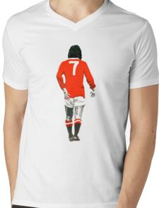 Gorgeous George Best Tribute Manchester United No.7 Mens V-Neck T-Shirt