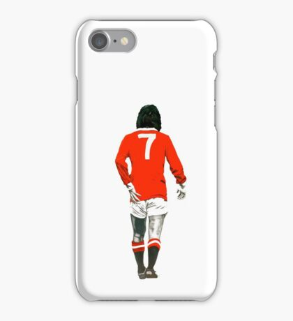 Gorgeous George Best Tribute Manchester United No.7 iPhone Case/Skin